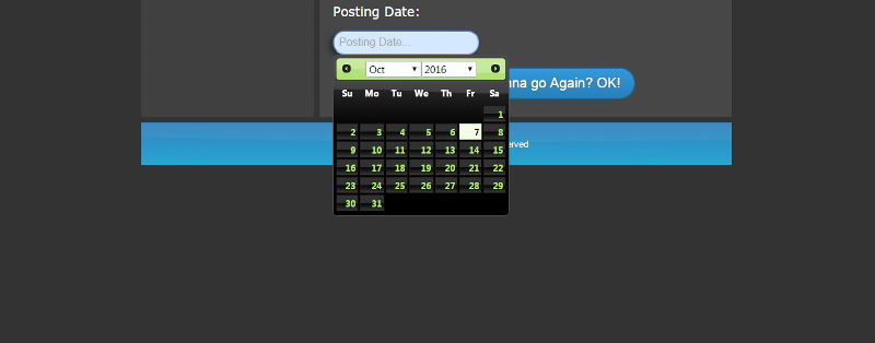 This is how the calendar looks like