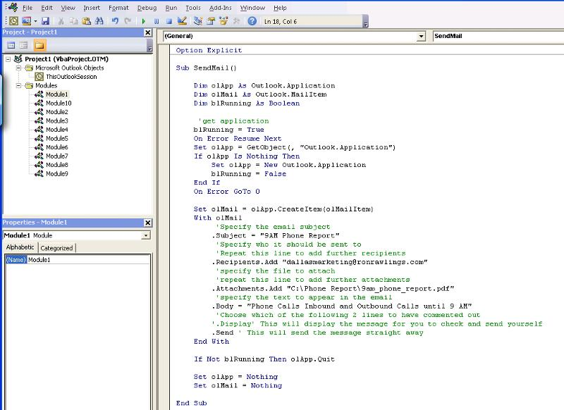 screenshot for one of those modules