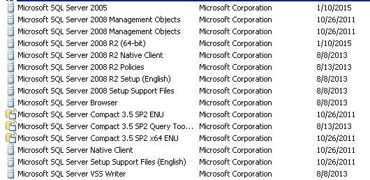 SQL INSTALLS
