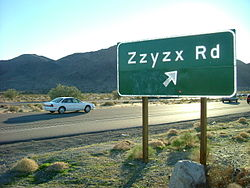 zzyzx road in California