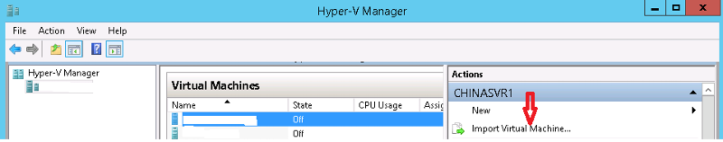 VM manager SS1