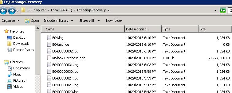 Recovery Folder