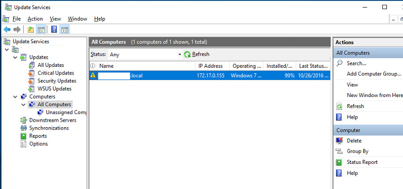 WSUS Screenshot