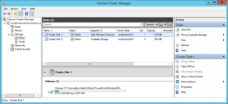 Failover Cluster Management