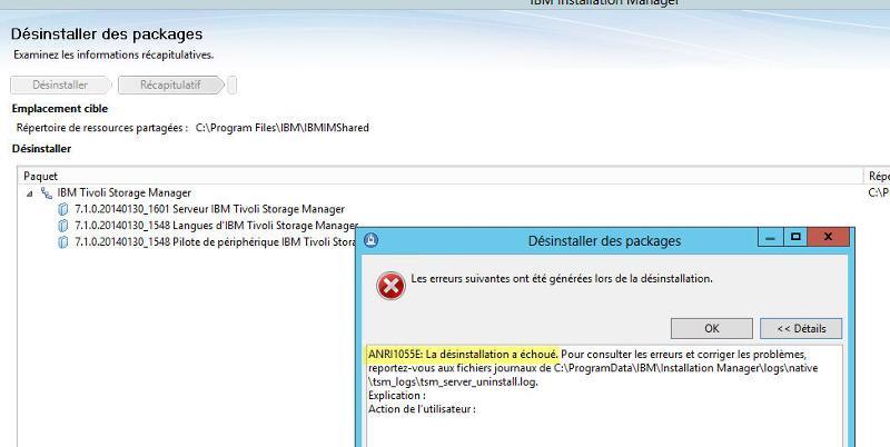TSM 7.1 uninstall