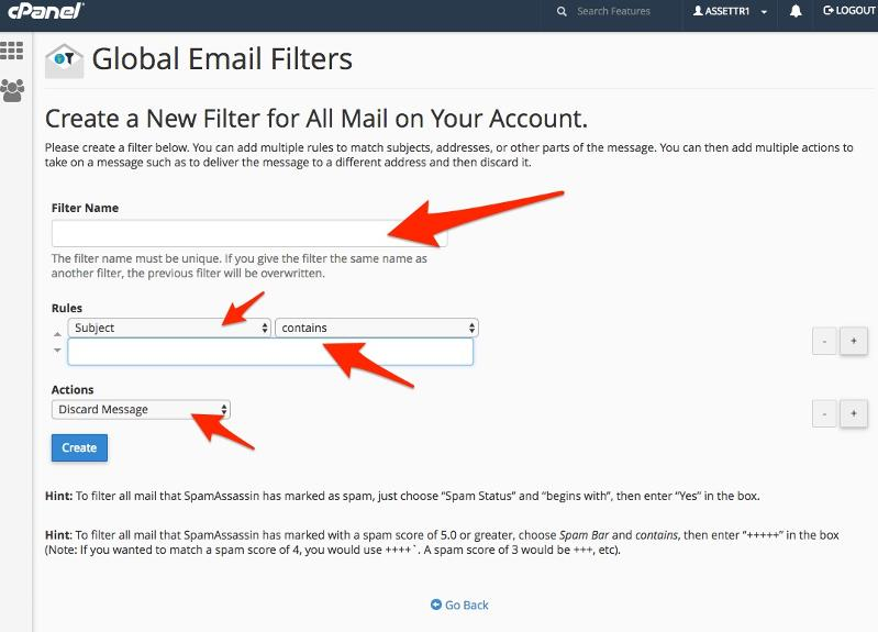 Global Mail Filter
