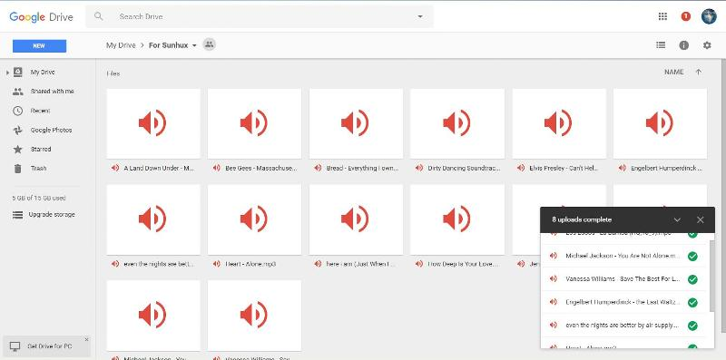All mp3 on my Google drive