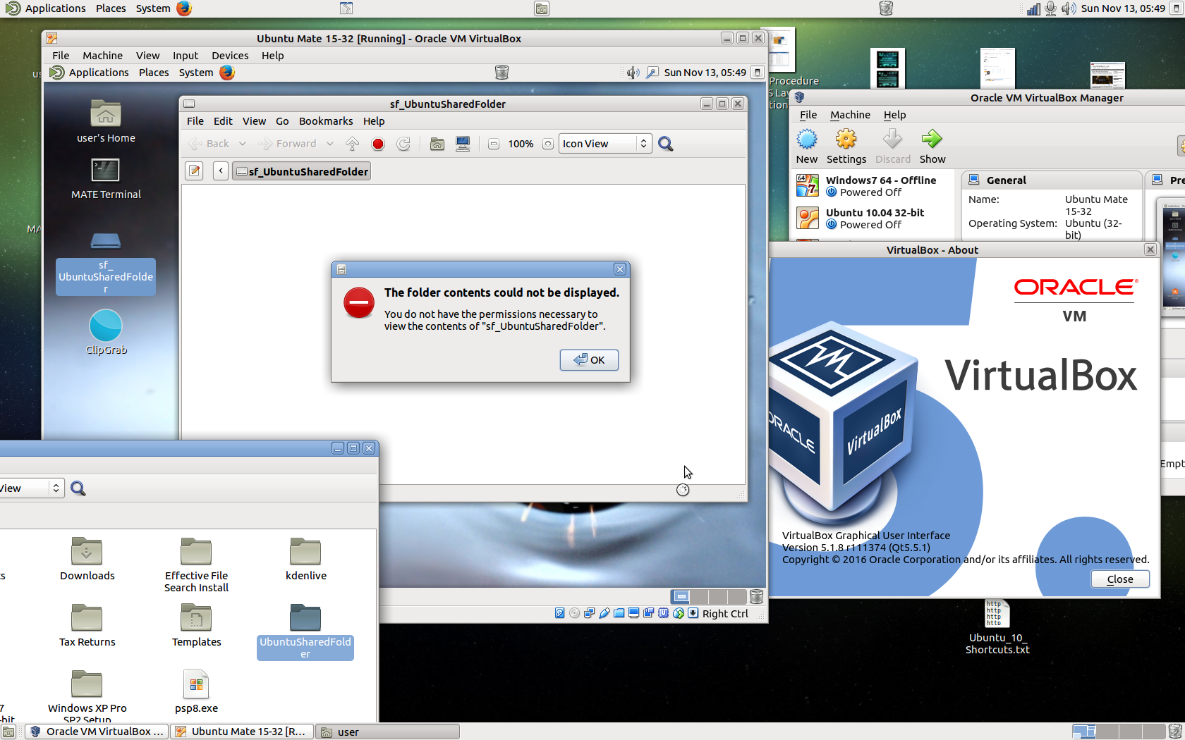 Virtualbox - shared folder: how to connect 6