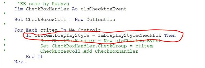 Code where the error occurs