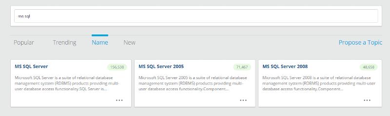 sql server topics