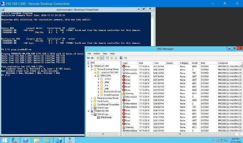 PRODDC01-VM Status