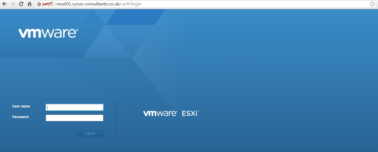HOW TO: Connect to the VMware vSphere Hypervisor 6 5 (ESXi