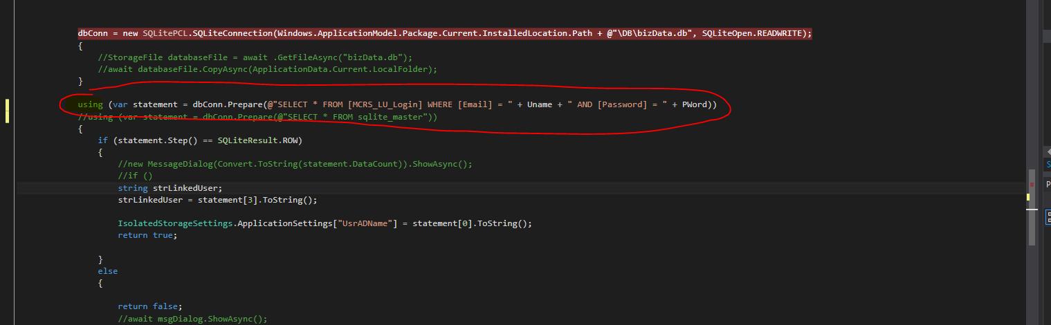 Table Not found - SQLITE error