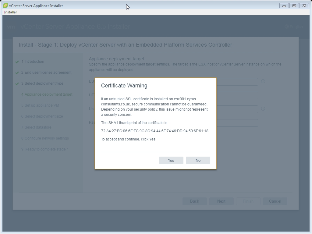 How to deploy and install the vmware vcenter server appliance 65 vcenter server appliance installer 0g xflitez Images