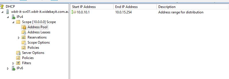 DHCP subnet masking issues