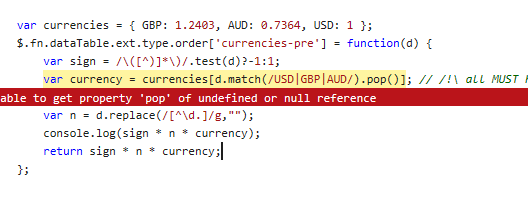 How can i sort Jquery Datatable currency Column properly?