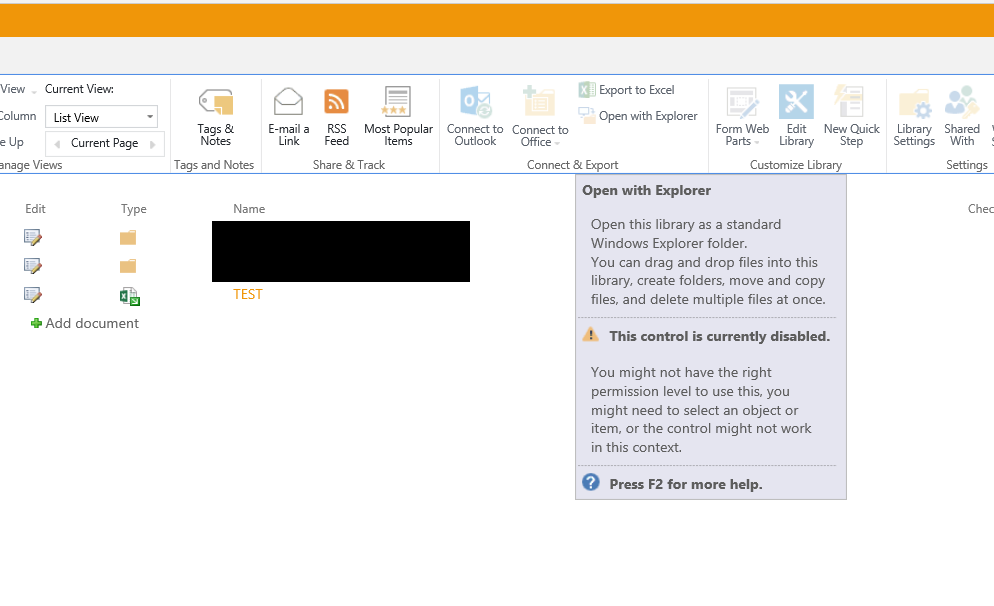 Opening an Excel workbook from Sharepoint