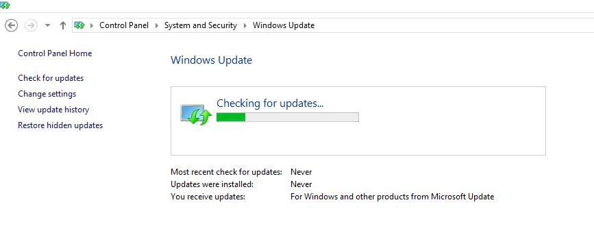 Windows 8.1 - Checking for Updates