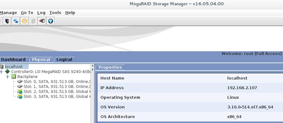 installing LSI MegaRAID Storage Manager on CentOS 7
