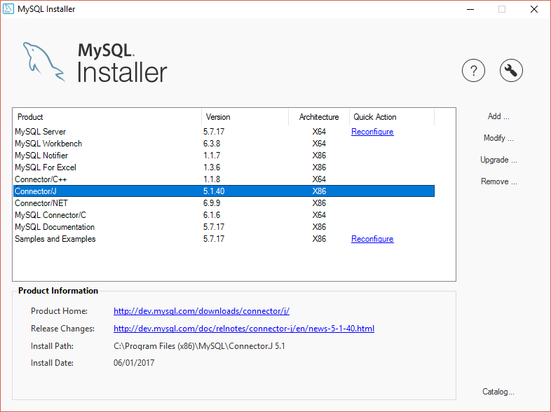 MySQL on Tomcat