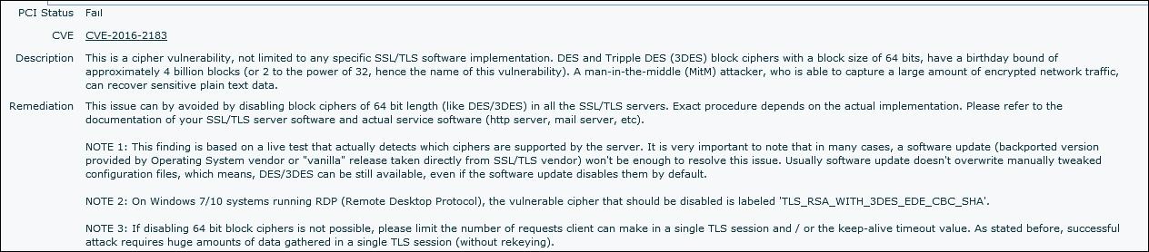 SOLUTION] Sweet32 Vulnerability in Microsoft IIS7 5
