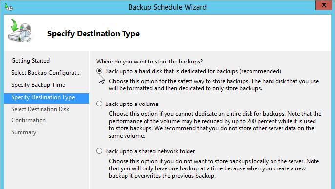 SelectBackupDestinationType