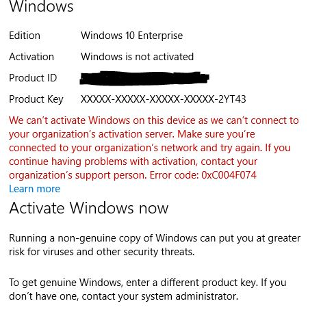 Windows kms manual activation