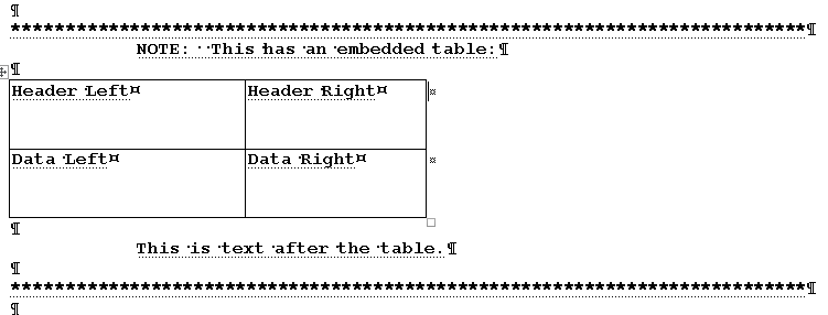 Selecting a Table in Word VBA then applying a Style to the entire area