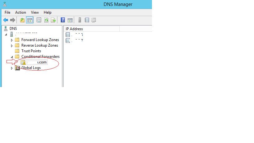 DNS forwarder or DNS forwarder records missing