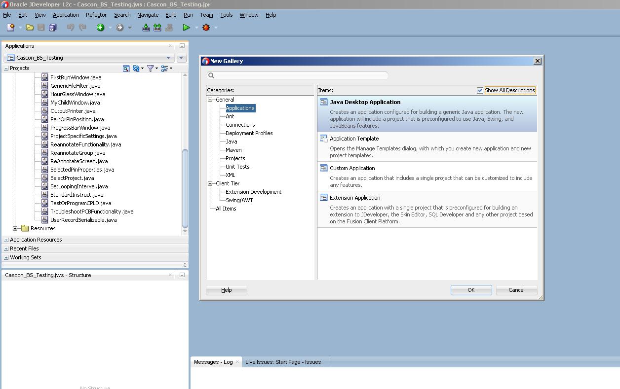 Running JavaFX on JDeveloper 12C
