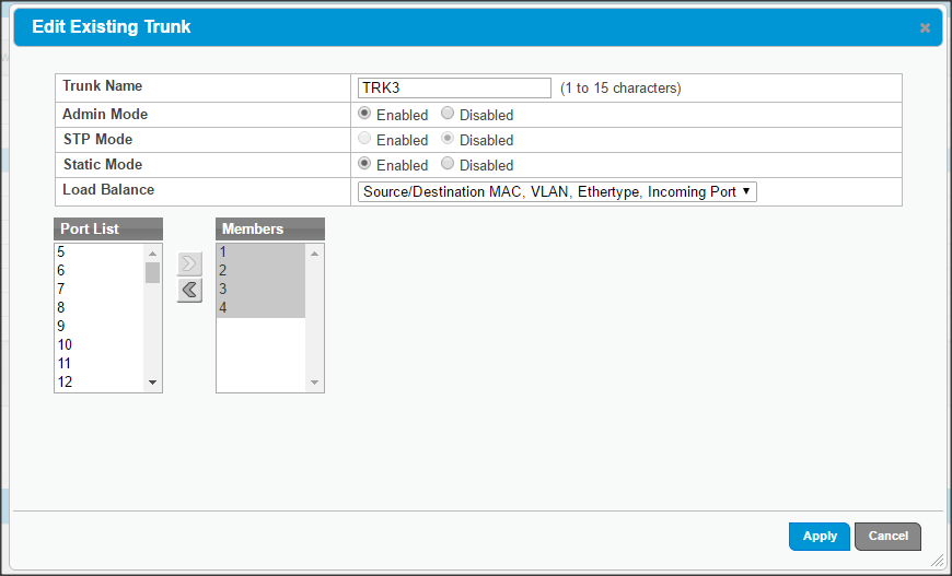 HP Switch with error packets from ESX 6
