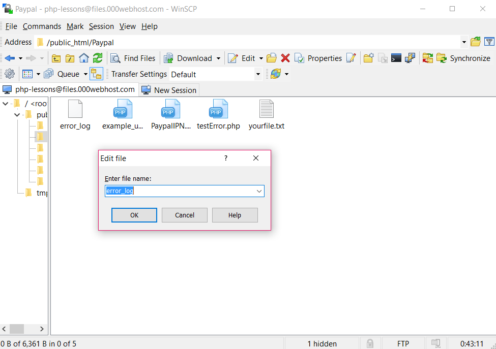SOLUTION] I cant see  htaccess on shared lamp using winscp