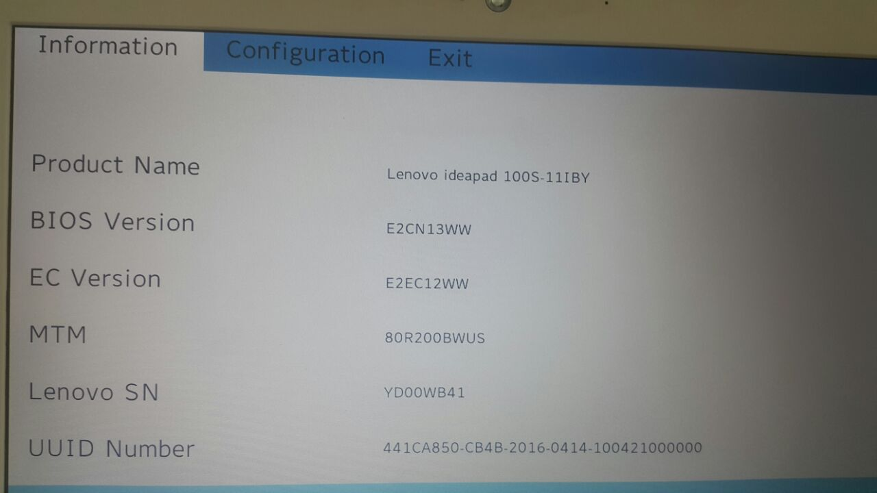 Changing Boot Mode on Lenovo Idearpad 100S