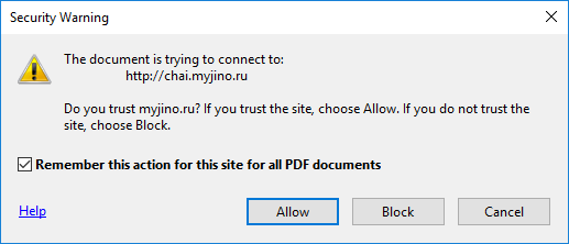 PDF Warning for offsite links