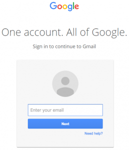 fake gmail login screen- phished