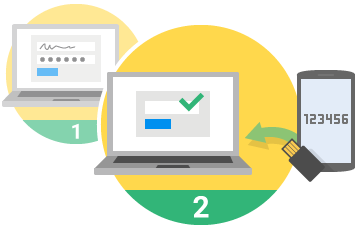 google two step verification icons