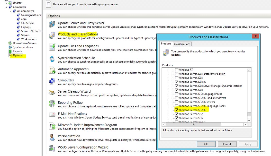 Windows Update not working on Windows Server 2012R2