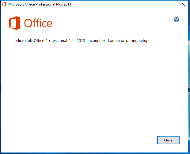 office 2013 stopped working windows 10