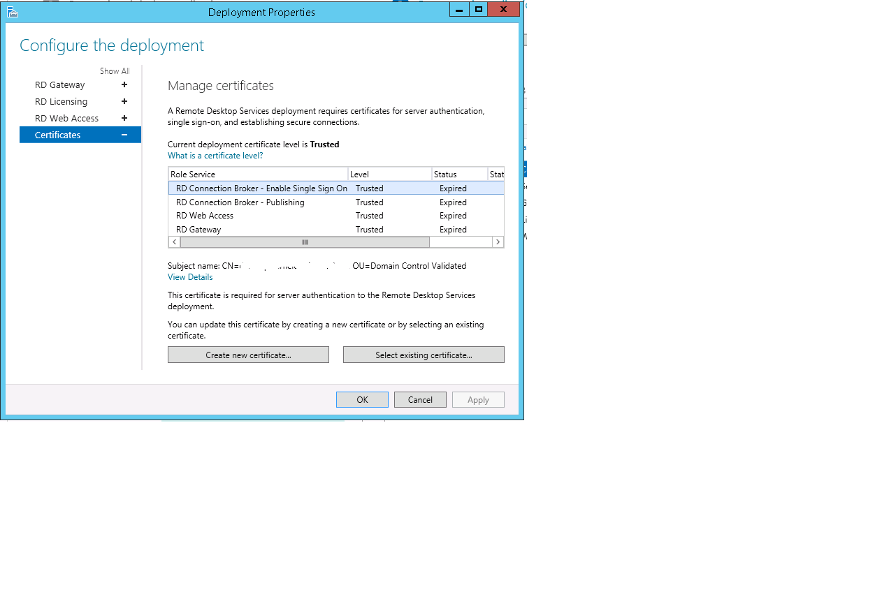 On the rdp server manager certificate windows i get rd rd managerg 1betcityfo Image collections