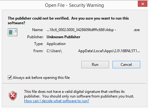 VB NET 2008 Install - The publisher could not be verified
