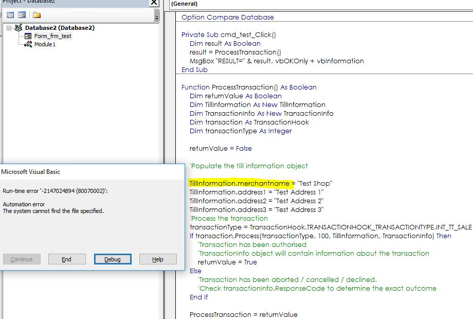 Using Third Party DLL with Access VBA