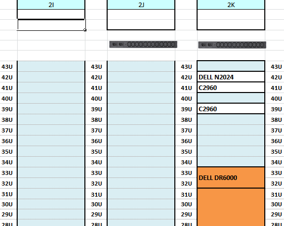 Turning excel sheet to rack view for data center