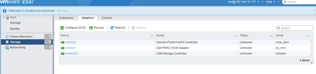 RAID 1 disks not displaying in VMWare Esxi setup