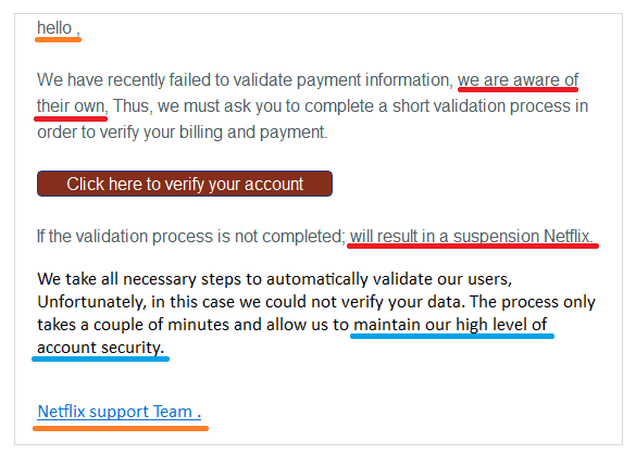 Netflix payment phishing email march edited