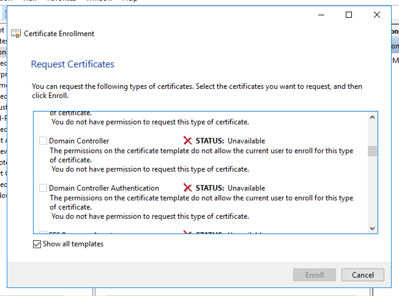 Unable to request new certificate from nps server yelopaper