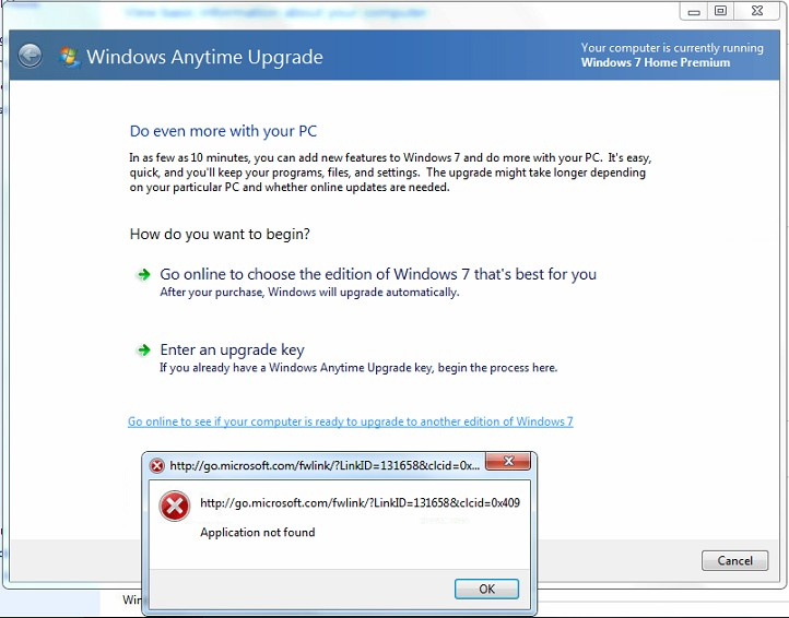 windows 7 home premium to professional upgrade