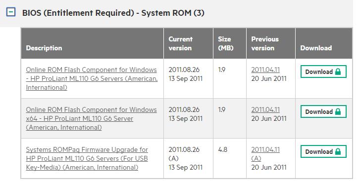 ML110G6 BIOS Download