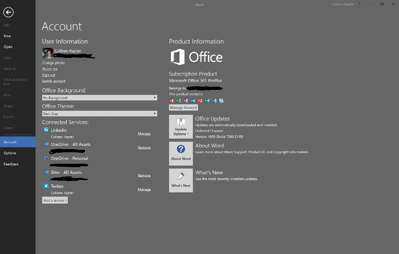 How Office connects to cloud services
