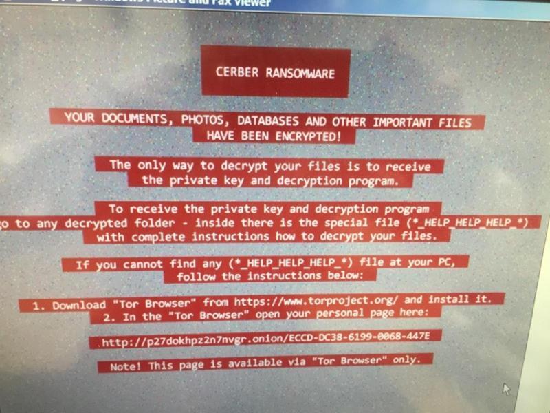 Cerber Ransomware ...