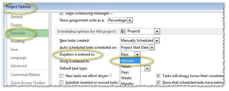 minimum unit is: Minutes